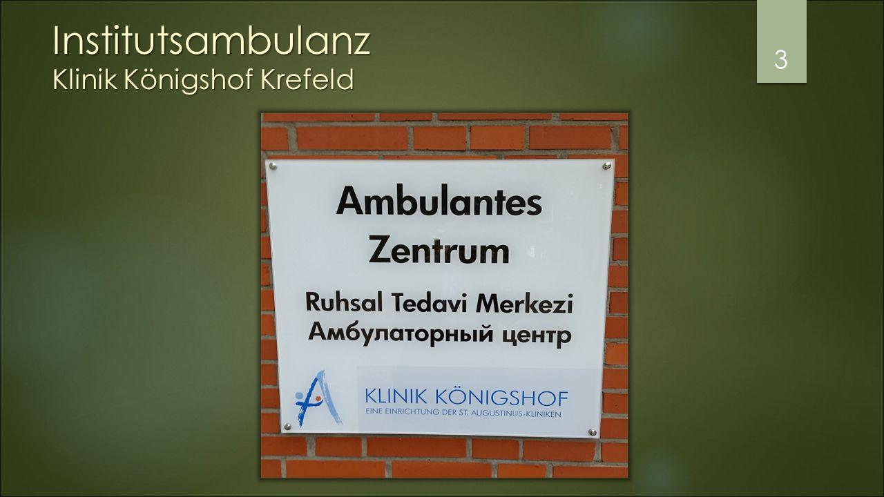 Institutsambulanz Klinik Königshof Krefeld