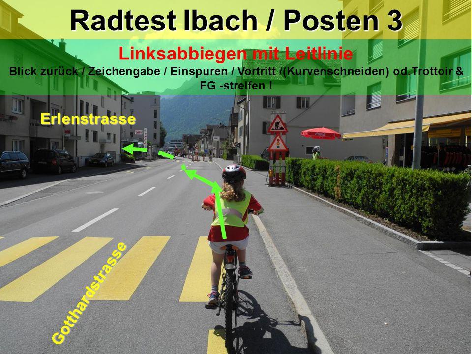 Radtest Ibach / Posten 3