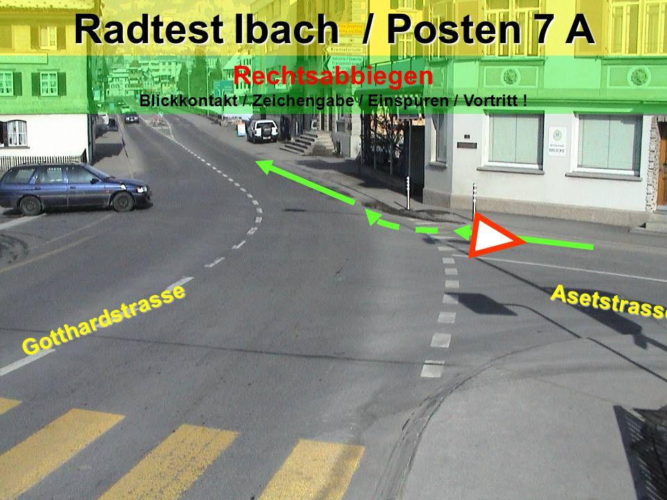 Radtest Ibach / Posten 7 A