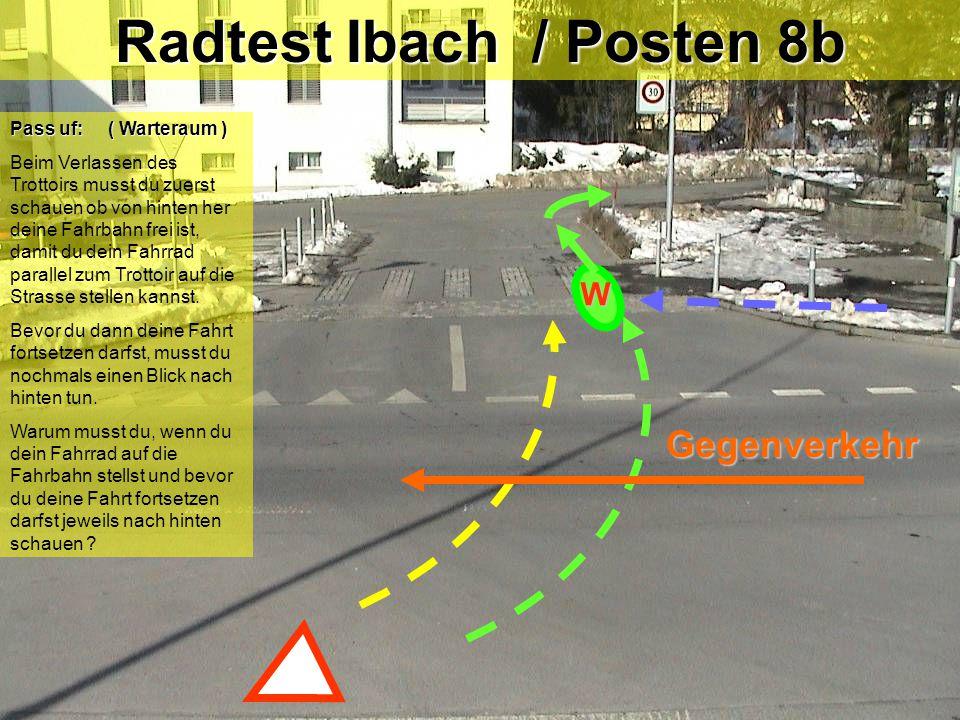 Radtest Ibach / Posten 8b