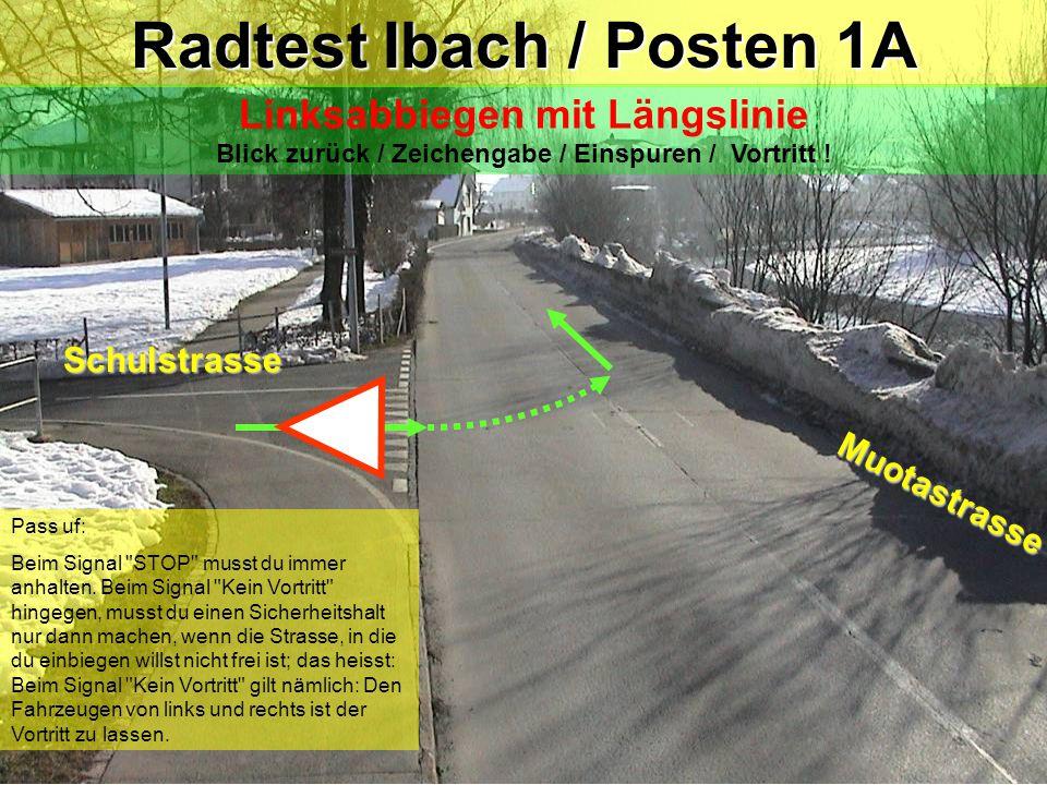 Radtest Ibach / Posten 1A