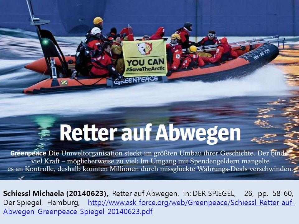 Schiessl Michaela (20140623), Retter auf Abwegen, in: DER SPIEGEL, 26, pp.