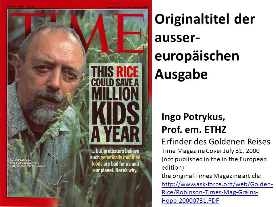 Originaltitel der ausser-europäischen