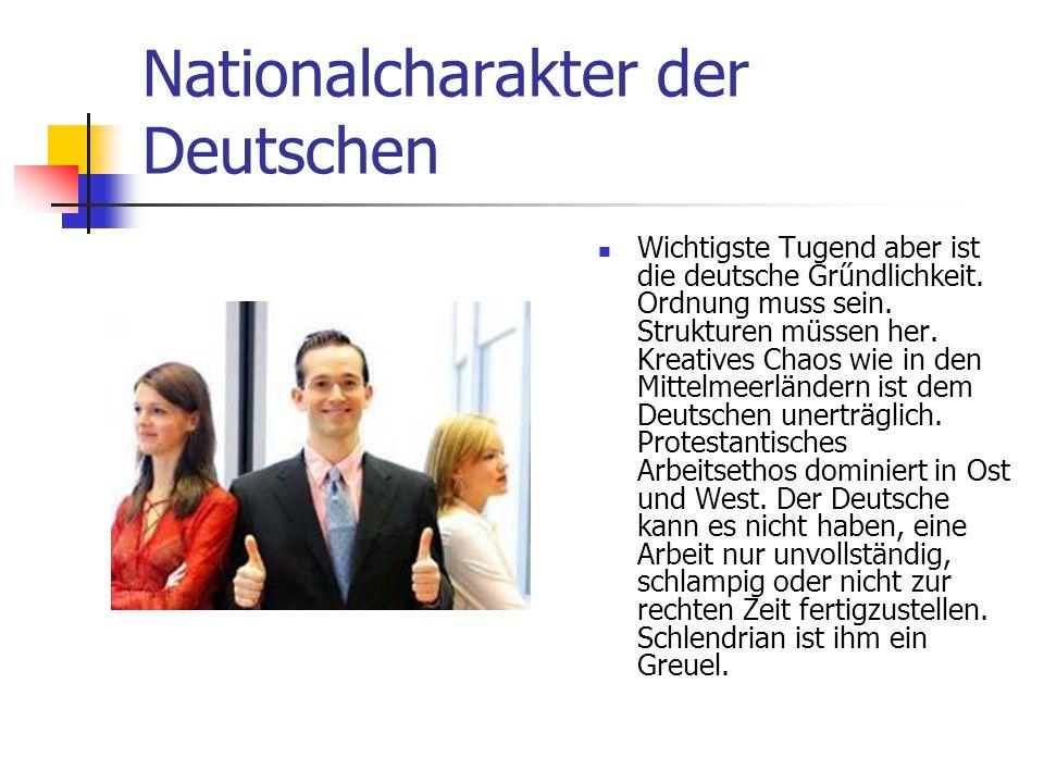 Nationalcharakter der Deutschen