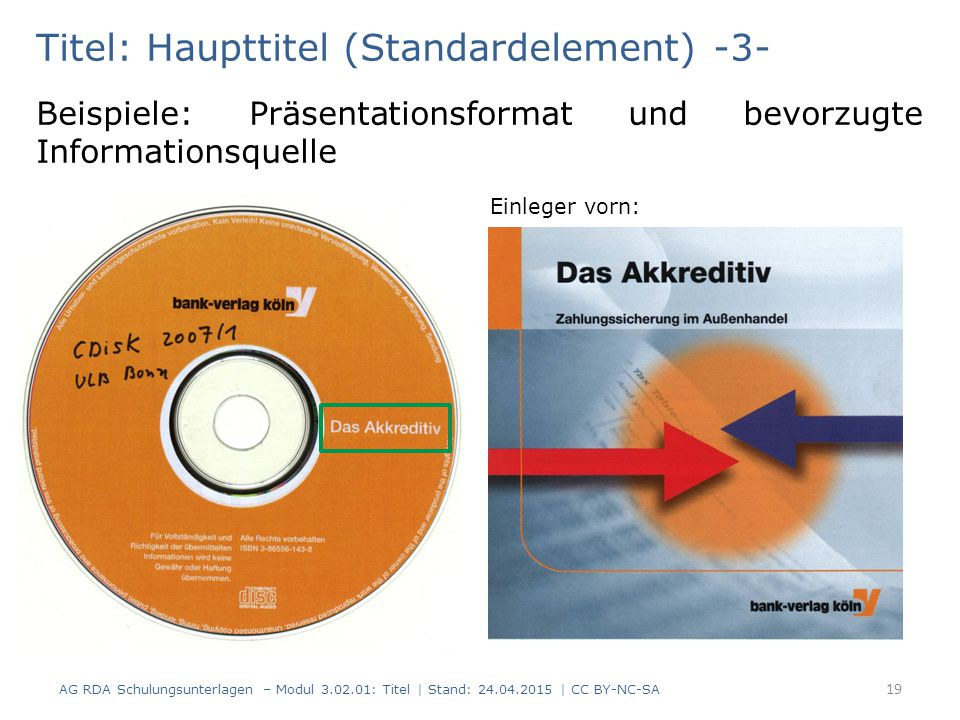 Titel: Haupttitel (Standardelement) -3-