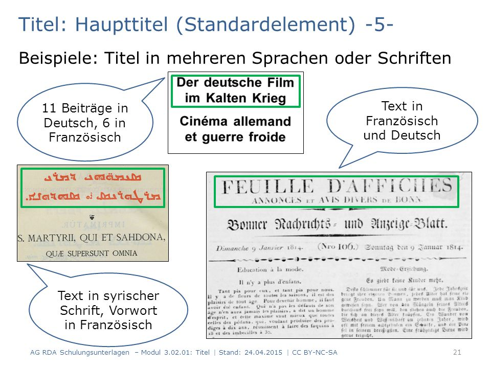 Titel: Haupttitel (Standardelement) -5-