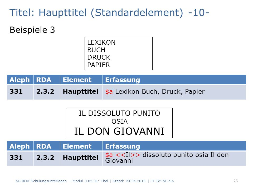 Titel: Haupttitel (Standardelement) -10-