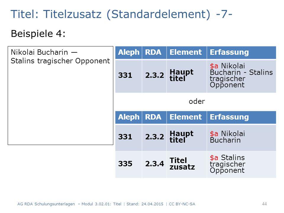 Titel: Titelzusatz (Standardelement) -7-