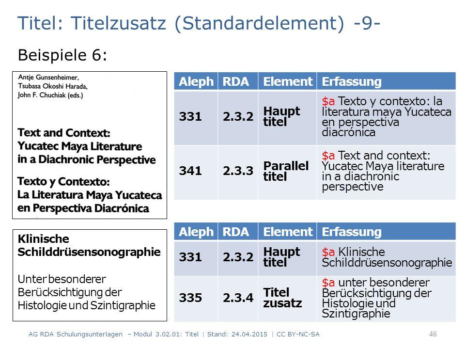 Titel: Titelzusatz (Standardelement) -9-