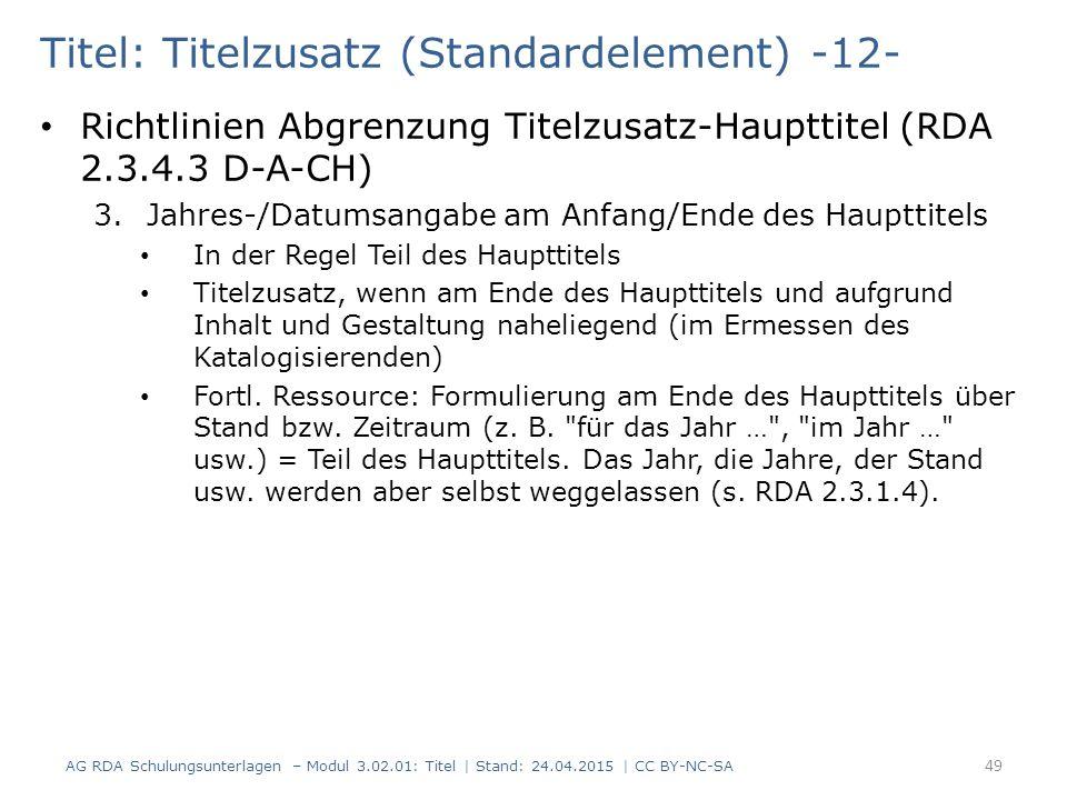 Titel: Titelzusatz (Standardelement) -12-