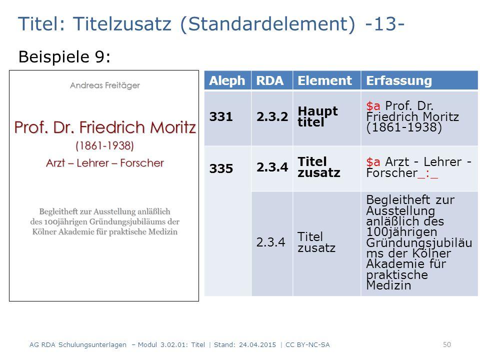 Titel: Titelzusatz (Standardelement) -13-