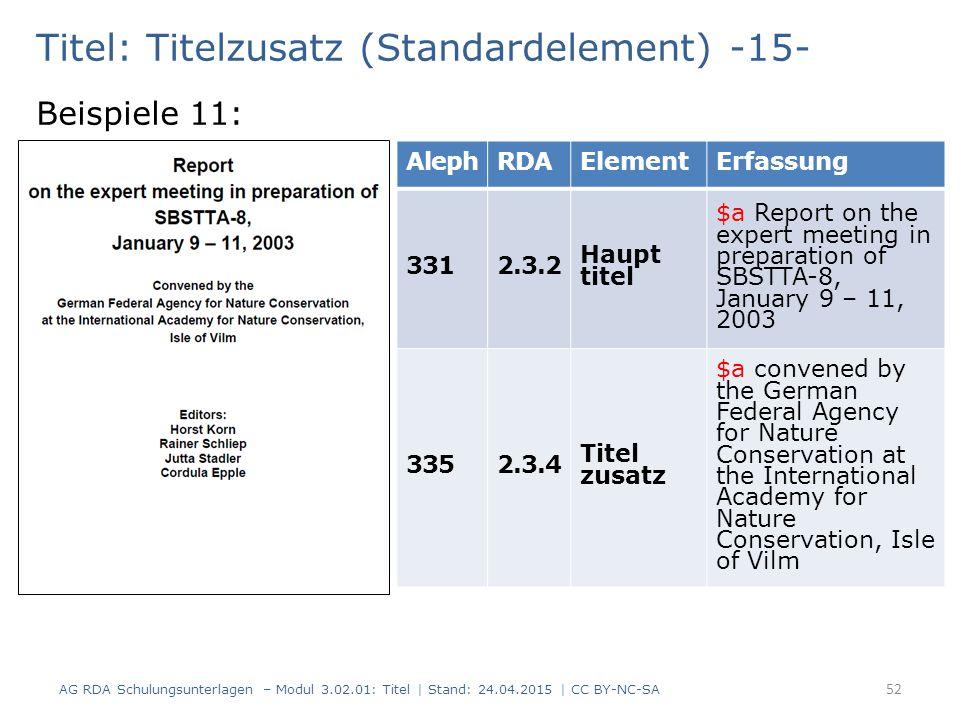 Titel: Titelzusatz (Standardelement) -15-
