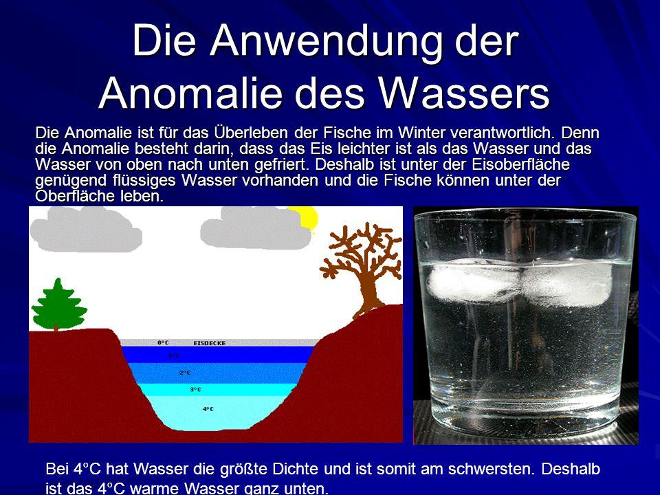 Die Anwendung der Anomalie des Wassers
