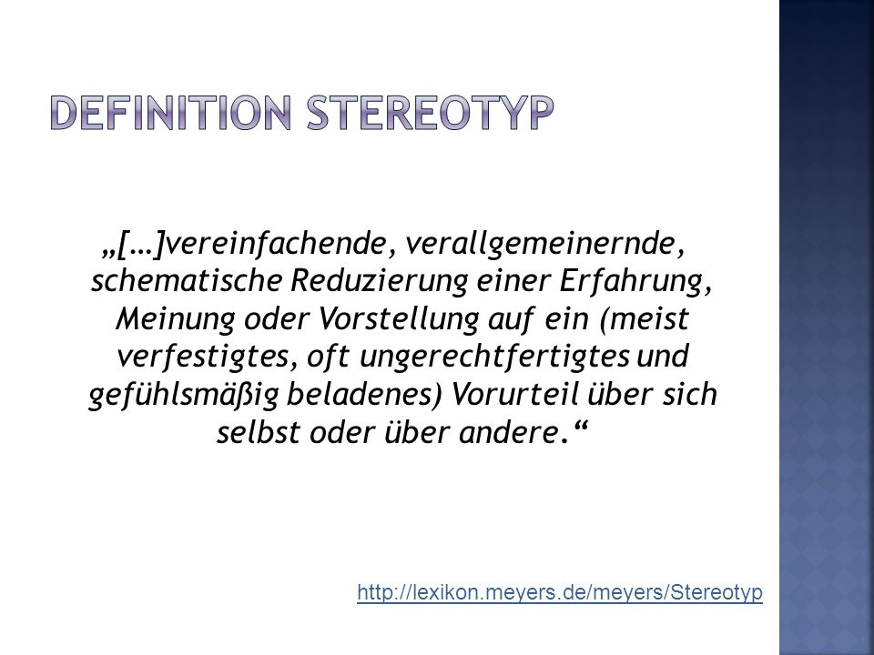 Definition Stereotyp