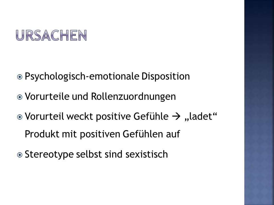 Ursachen Psychologisch-emotionale Disposition