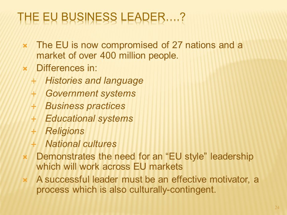 The EU Business Leader….