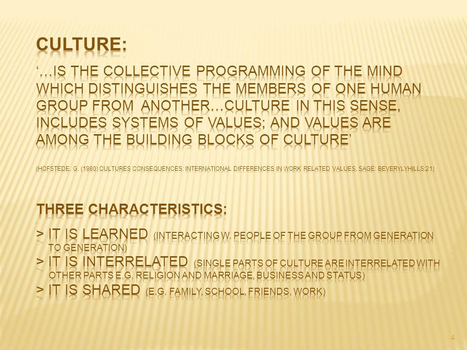 Culture: .