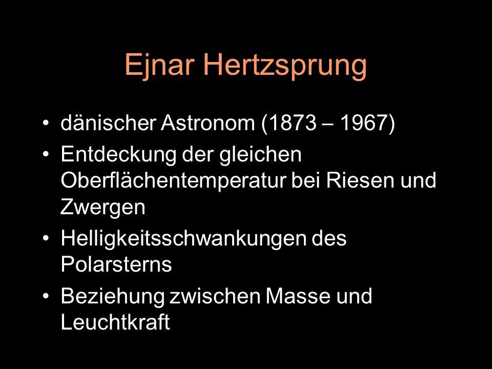 Ejnar Hertzsprung dänischer Astronom (1873 – 1967)