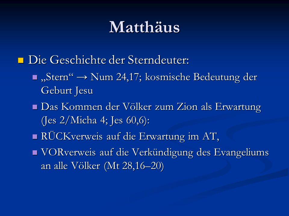 Matthäus Die Geschichte der Sterndeuter: