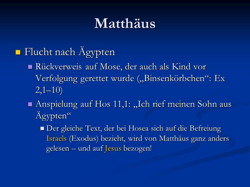 Matthäus Flucht nach Ägypten