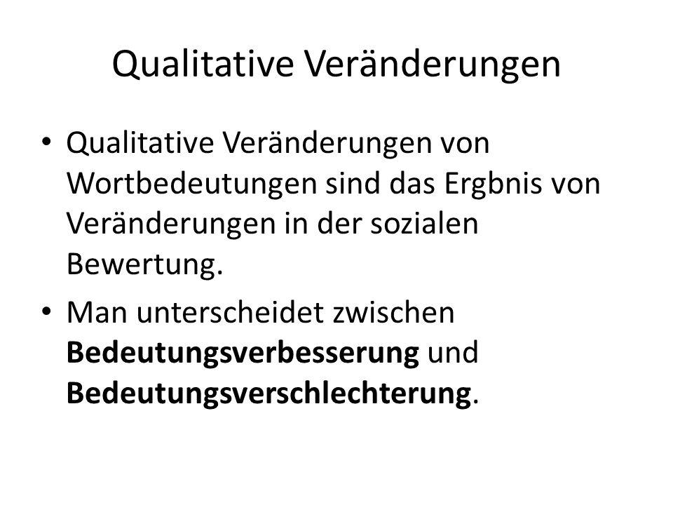 Qualitative Veränderungen