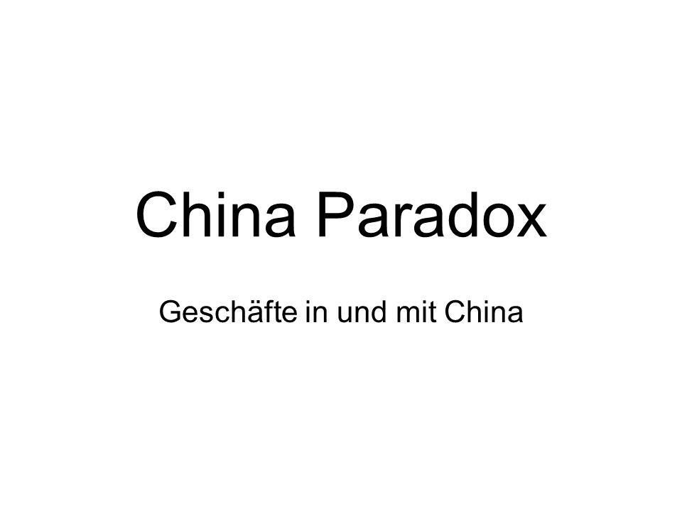 Geschäfte in und mit China