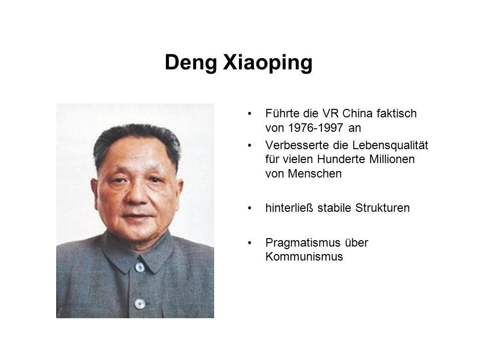 Deng Xiaoping Führte die VR China faktisch von 1976-1997 an