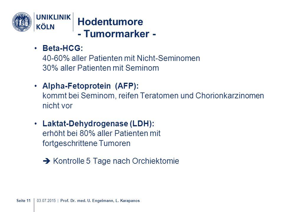 Hodentumore - Tumormarker -