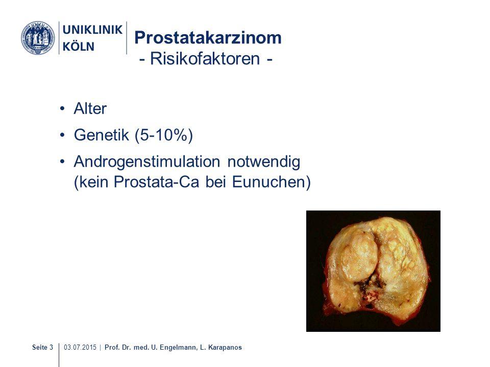 Prostatakarzinom - Risikofaktoren -