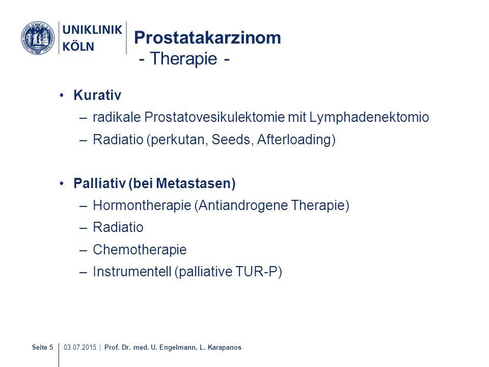 Prostatakarzinom - Therapie -