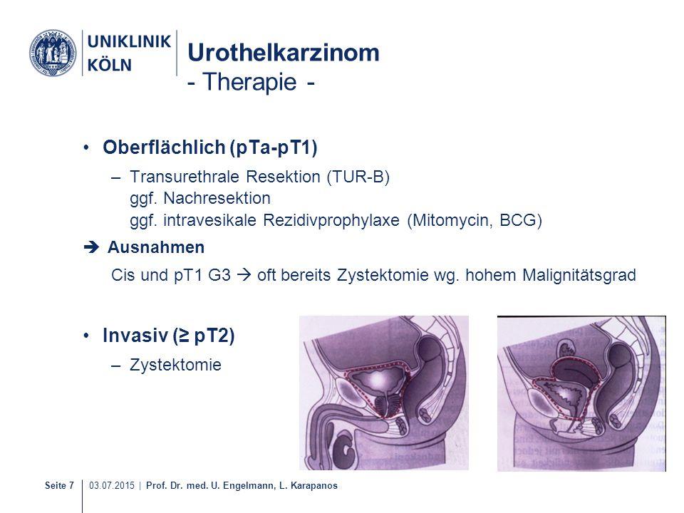 Urothelkarzinom - Therapie -