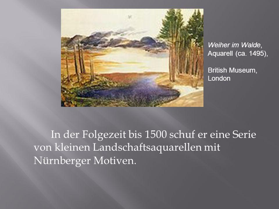Weiher im Walde, Aquarell (ca. 1495),