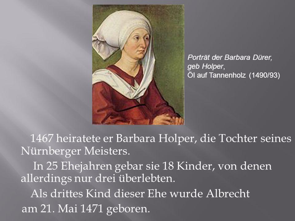 Porträt der Barbara Dürer,