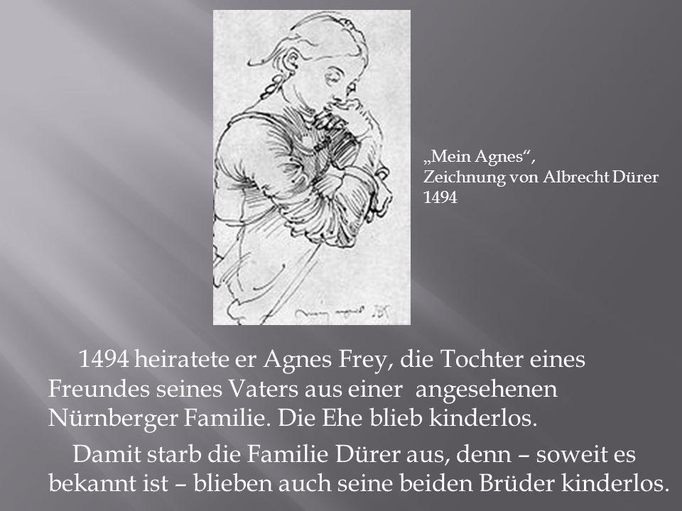 """""""Mein Agnes , Zeichnung von Albrecht Dürer. 1494."""