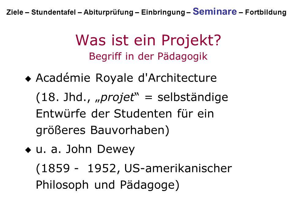 Was ist ein Projekt Begriff in der Pädagogik