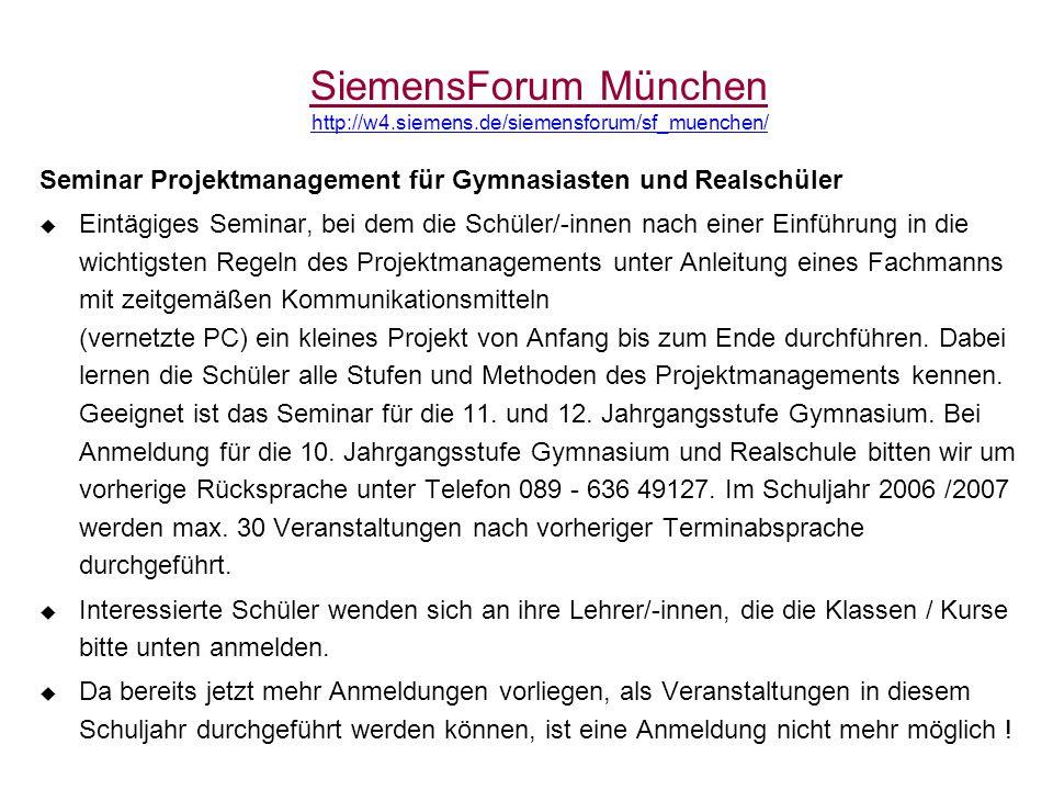 SiemensForum München http://w4.siemens.de/siemensforum/sf_muenchen/
