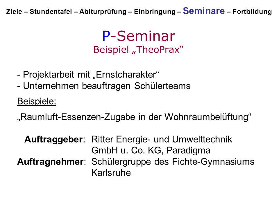 """P-Seminar Beispiel """"TheoPrax"""