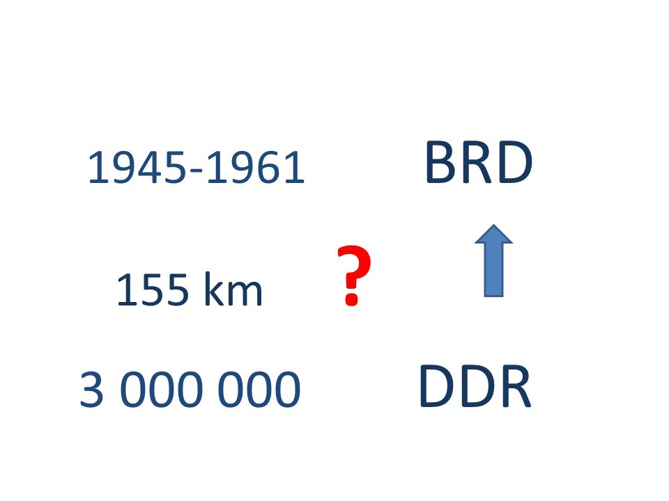 1945-1961 BRD 155 km 3 000 000 DDR