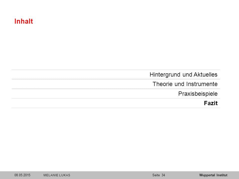Inhalt Hintergrund und Aktuelles Theorie und Instrumente