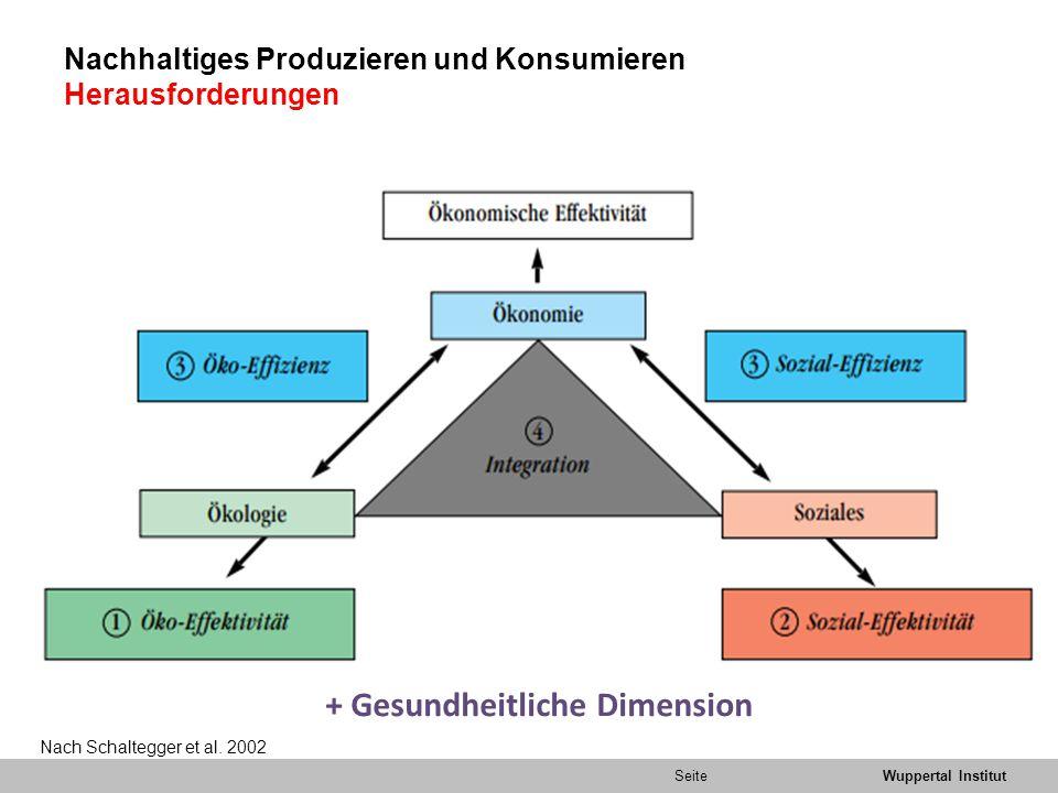 Nachhaltiges Produzieren und Konsumieren Herausforderungen
