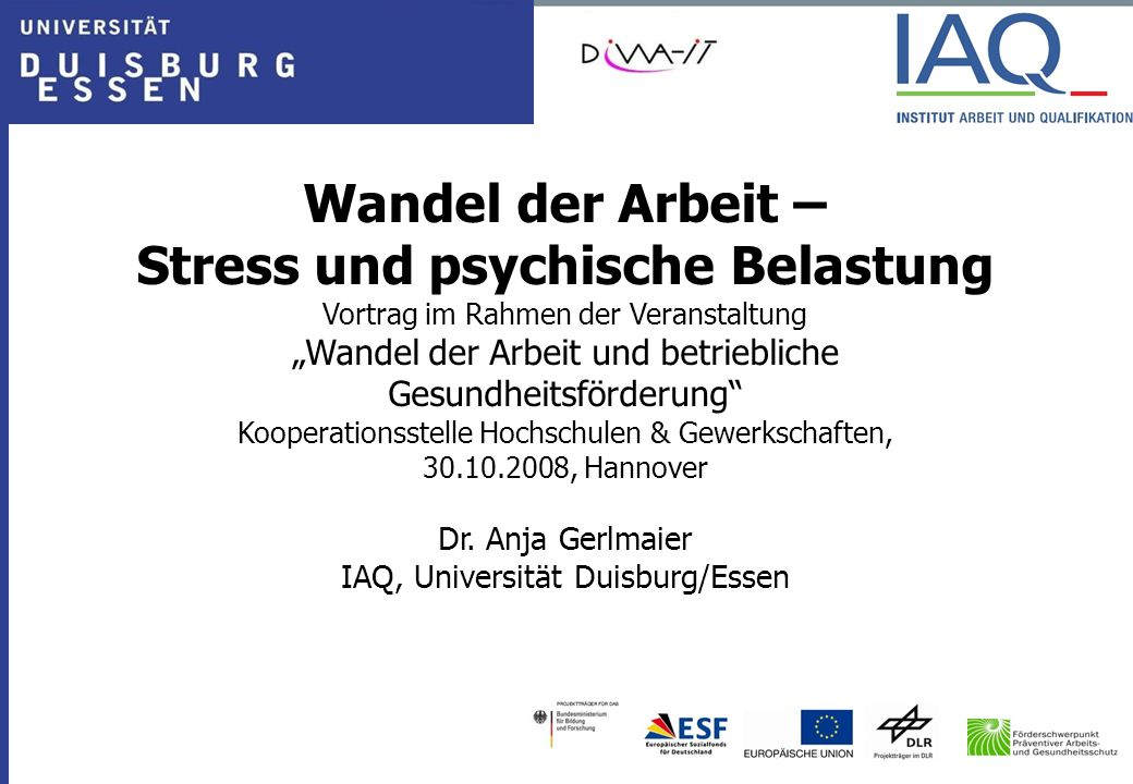 Stress und psychische Belastung