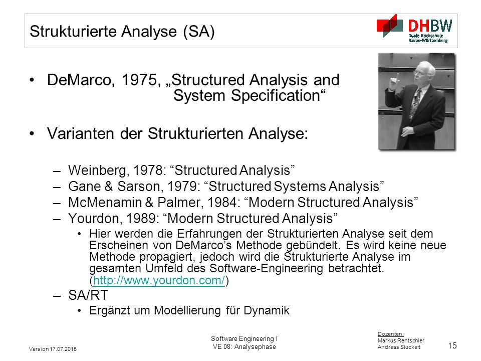Strukturierte Analyse (SA)