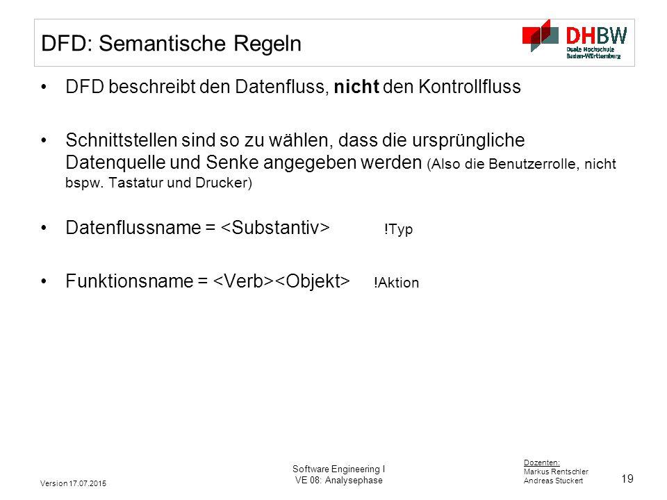 DFD: Semantische Regeln