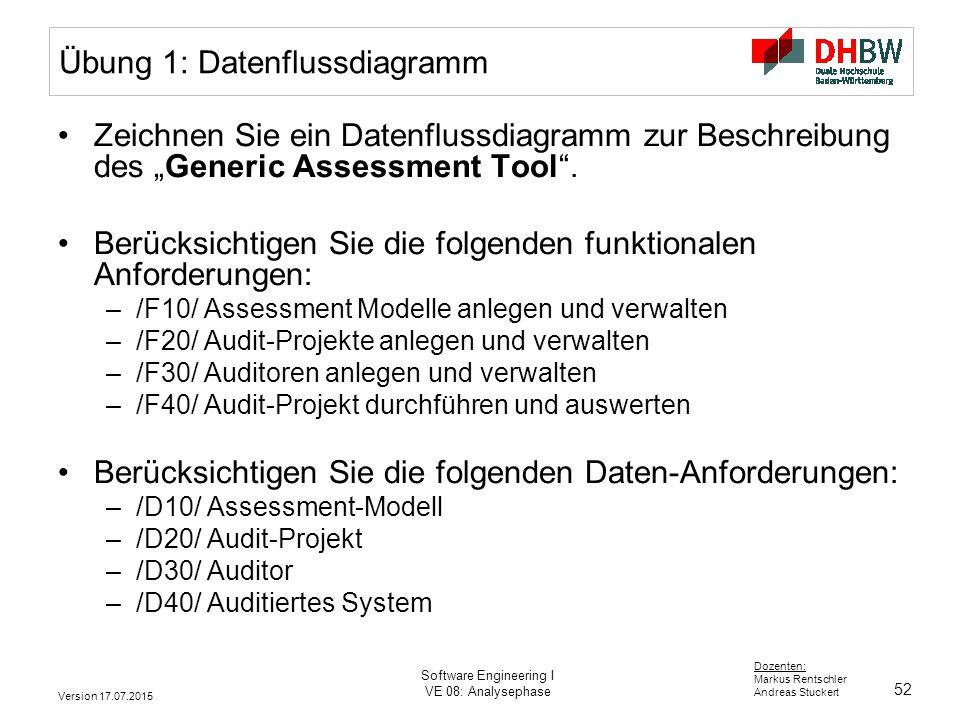 Übung 1: Datenflussdiagramm