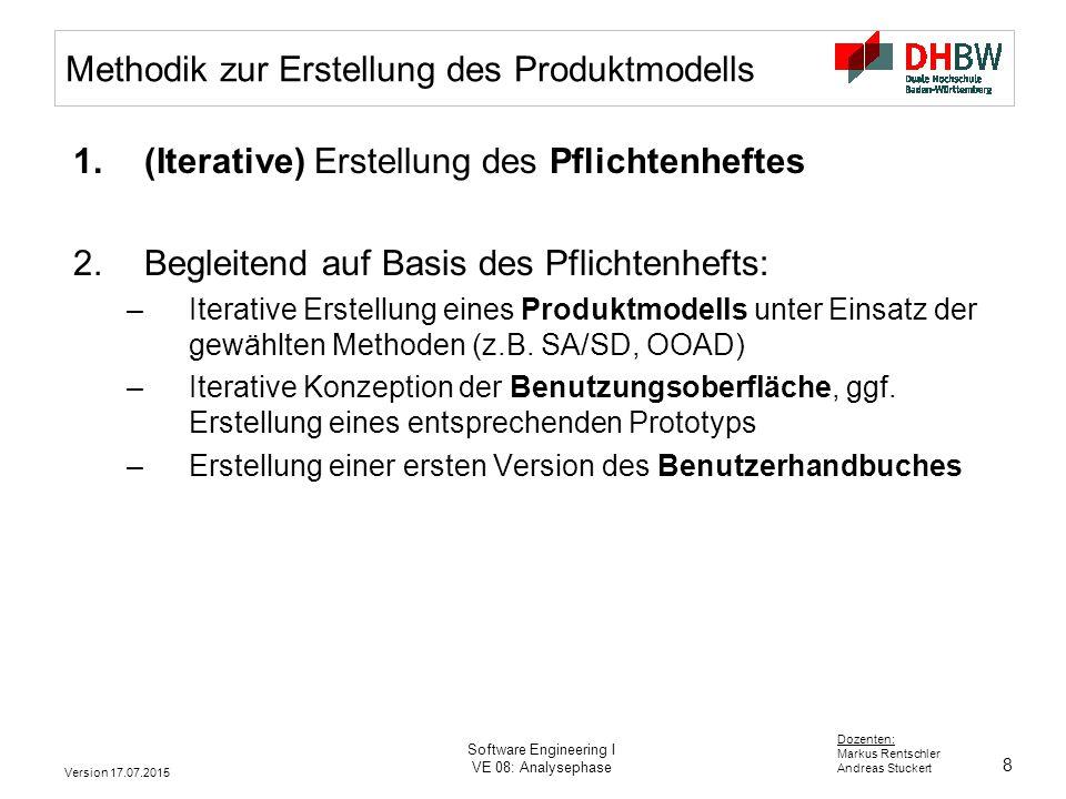 Methodik zur Erstellung des Produktmodells