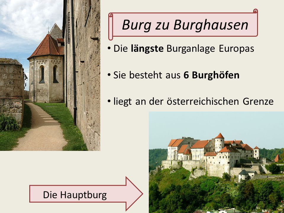 Burg zu Burghausen Die längste Burganlage Europas