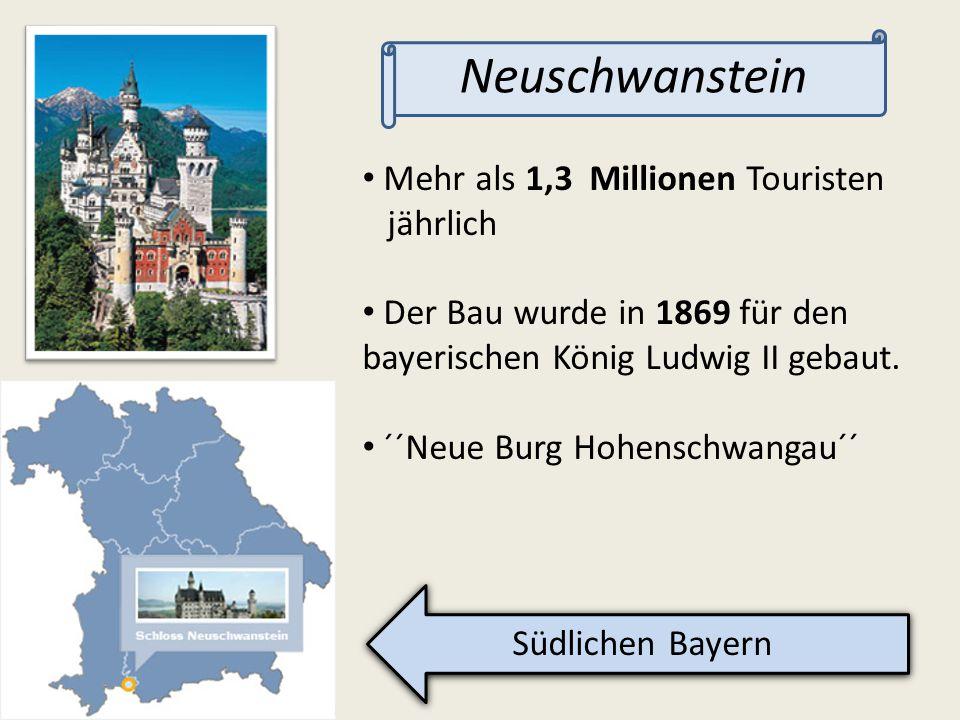 Neuschwanstein Mehr als 1,3 Millionen Touristen jährlich