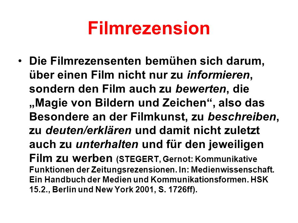 Filmrezension