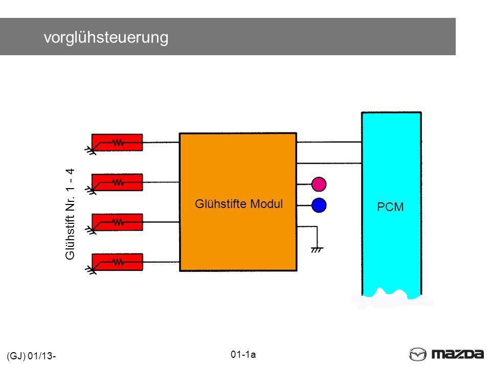 vorglühsteuerung Glühstift Nr. 1 - 4 Glühstifte Modul PCM (GJ) 01/13-