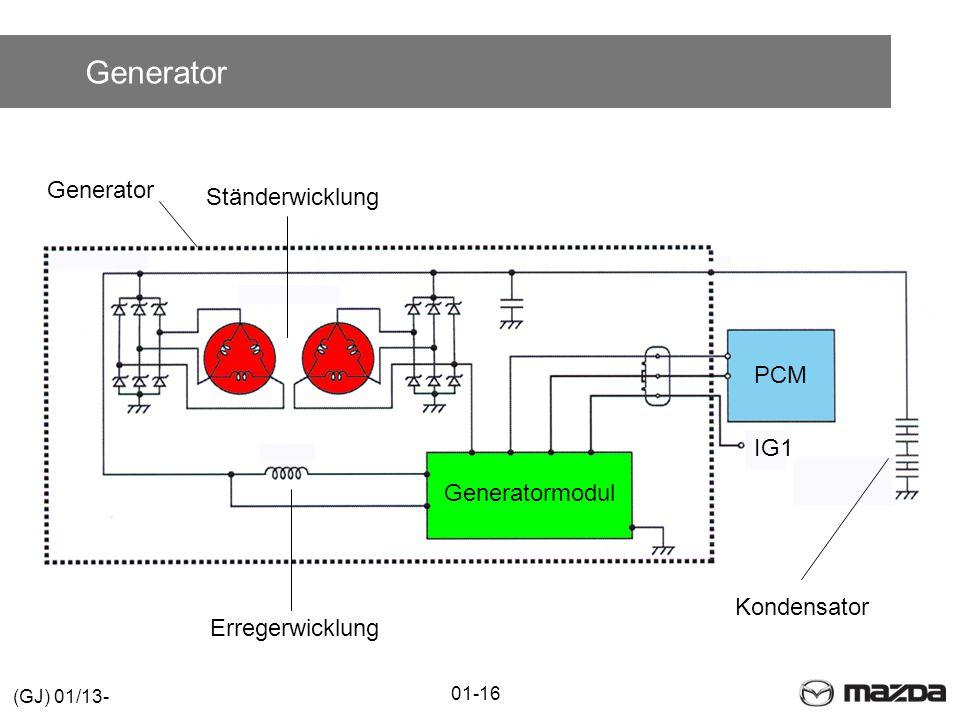 Generator Generator Ständerwicklung PCM IG1 Generatormodul Kondensator